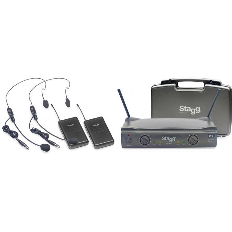 Двоен микрофон с диадема SUW50 HH UHF